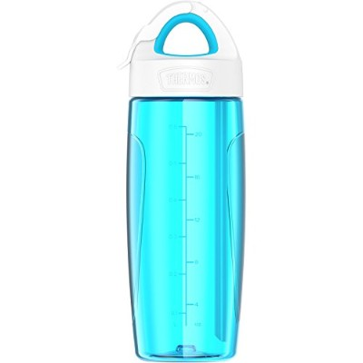(Teal) - THERMOS Sport Bottle with Covered Straw, 710ml, Teal