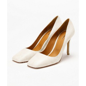 PIPPICHIC/ピッピシック  Square toe 8.5cm heel Pumps(PP18-VIANCA13) NATURAL WHITE 【三越・伊勢丹/公式】 靴~~レディースシューズ...