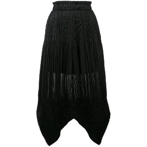 Pleats Please By Issey Miyake plissé trousers - ブラック