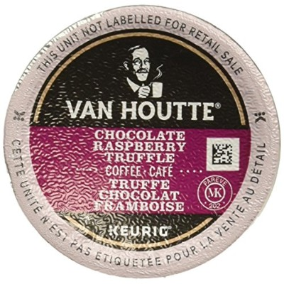 48 Count - Van Houtte Raspberry Chocolate Truffle Coffee K Cup For Keurig K-Cup Brewers and 2.0 Brewers by Van Houtte