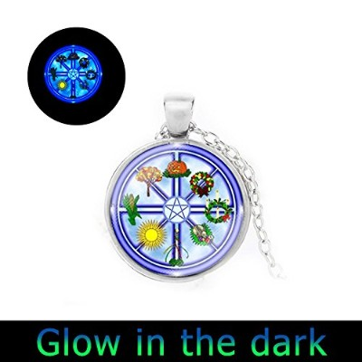 glowlala @五角形Glowingネックレス、Pentacle Glowingネックレス、ペンタグラムGlowingペンダント、Wiccan、Spiritualジュエリー、Pentacleペンダ...