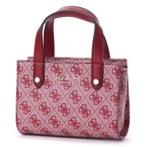 ゲス GUESS FLORENCE LOGO MINI SATCHEL (RED) レディース