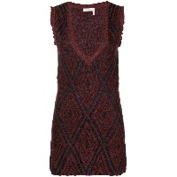See By Chloé deep V-neck dress - レッド