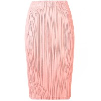 Pleats Please By Issey Miyake pleated straight skirt - ピンク&パープル