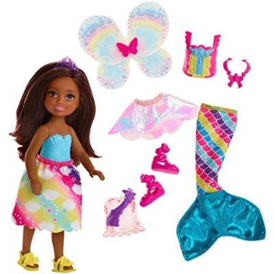 バービー バービー人形 チェルシー スキッパー ステイシー FJD01 Barbie Dreamtopia Rainbow Cove Chelsea Doll And Fashions Set,...