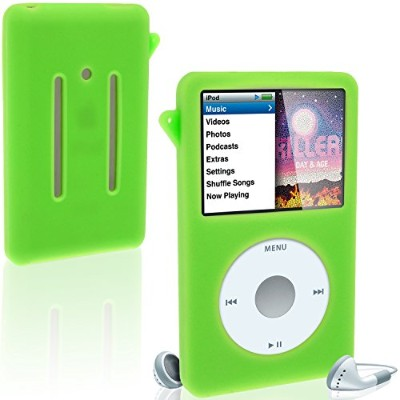 iGadgitz Silicone Skin Case Cover with Screen Protector, Lanyard for Apple iPod Classic 80GB, 120GB...