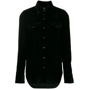 Saint Laurent long-sleeve fitted shirt - ブラック