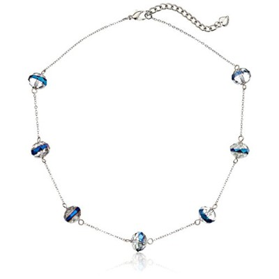 "Carolee "" Cosmic反射"" Short Rondelle Illusion Necklace 16 "" + 2 """