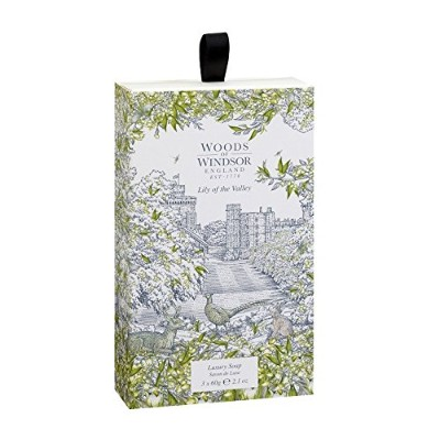 Lily of the Valley (Woods of Windsor) by Woods of Windsor Three 2.1 oz Luxury Soaps 2.1 oz / 62 ml ...