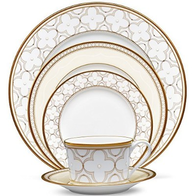 Noritake Trefolio Gold 5Pc Place Setting
