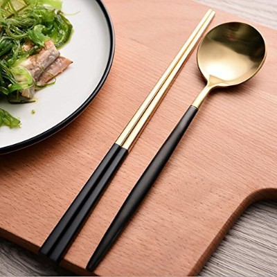 Autohome夕食Flatwareフォークとスプーンセット6 Pcss / 4個/ 3個パック Pack 4(2 pcs spoons,2 pairs chopsticks) COMINHKG121...