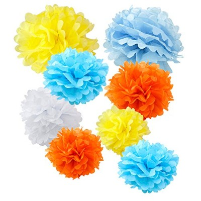 (20cm , 25cm , 30cm , Spring) - WYZworks Set of 8 (Assorted Spring Bloom Colourful Colour Pack)...