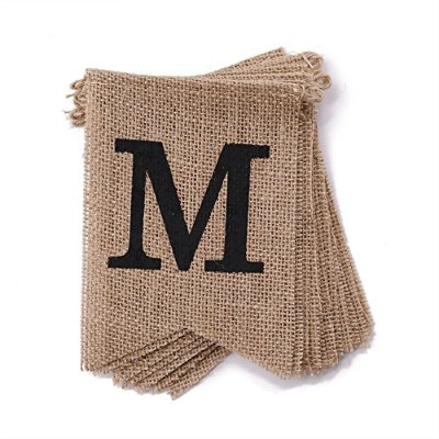 dealzepic結婚黄麻布バナーシリーズ BURLAP-BANNER-MISS-TO-MRS-2