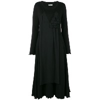 Aalto ruffled embellishment dress - ブラック