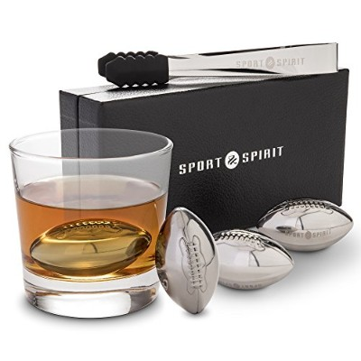 Stainless Steel Whiskey Stones 4 Piece Whisky Chilling Stones for Liquor, Scotch, and Spirits 4...