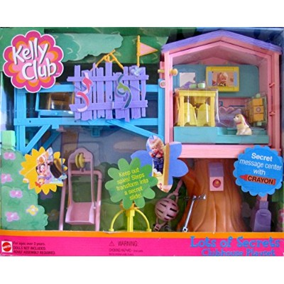 バービー バービー人形 チェルシー スキッパー ステイシー Barbie KELLY LOTS OF SECRETS CLUBHOUSE Playset CLUB HOUSE w MESSAGE...