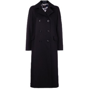 Paltò long double breasted coat - ブラック