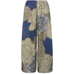 Pleats Please By Issey Miyake floral printed cropped trousers -