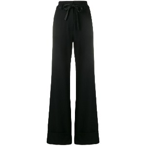 Ann Demeulemeester flared tailored trousers - ブラック