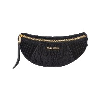 Miu Miu matelassé belt bag - ブラック