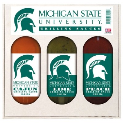 Michigan State Spartans 3ボトルGrilling Sauceギフトセット
