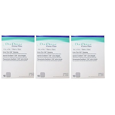 DuoDERM Extra Thin CGF Dressing - 4 x 4 -3 boxes with 10ea by ConvaTec