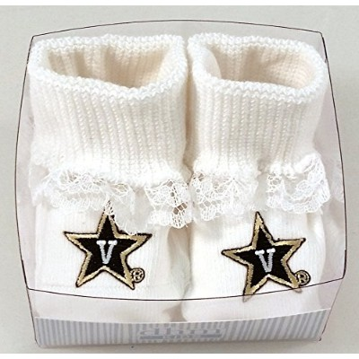 Vanderbilt Commodores Boxed Baby Booties withレース