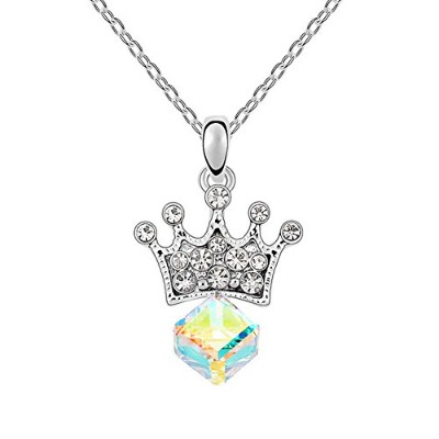 karvnar Princess Loverペンダントネックレス、女性のためのギフトジュエリーMade with Swarovski Crystals
