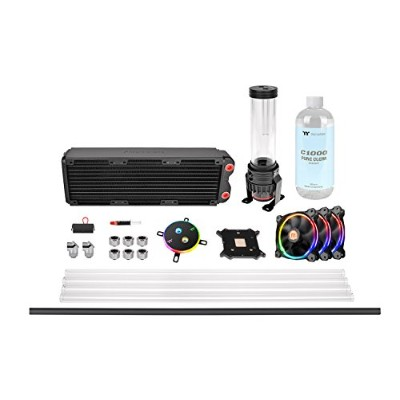 Thermaltake Pacific M360 D5 Hard Tube RGB Water Cooling Kit 水冷CPUクーラーキット [Intel/AMD両対応] HS1310