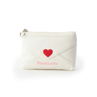 【SALE/50%OFF】PINK-latte ラブレター ポーチバッグ ピンク ラテ バッグ【RBA_S】【RBA_E】