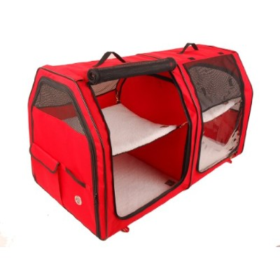 One for Pets Cat Carrier Show House- Red by One for Pets