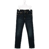 Ralph Lauren Kids faded slim-fit jeans - ブルー