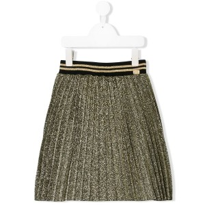Little Marc Jacobs lurex pleated skirt - メタリック