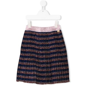 Little Marc Jacobs lurex pleated skirt - ブルー