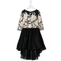 David Charles Kids baroque embroidered dress - ブラック