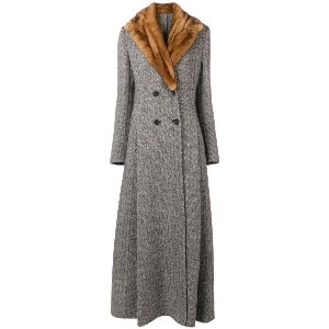 Ermanno Scervino long double-breasted coat - グレー