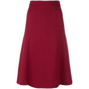 P.A.R.O.S.H. A-line skirt - レッド