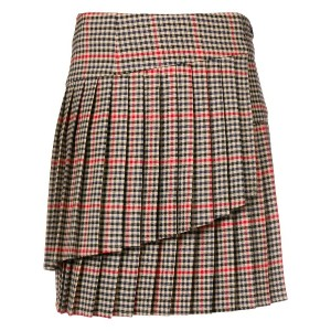 P.A.R.O.S.H. checked pleated skirt - ブラウン