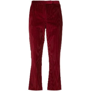 'S Max Mara corduroy cropped trousers - レッド