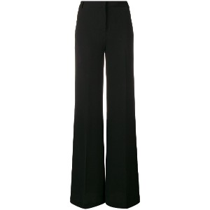 L'Autre Chose high-waisted flared trousers - ブラック