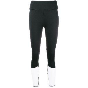 DKNY colour block leggings - ブラック