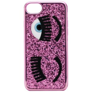 Chiara Ferragni iPhone S6/7/8 glitter Flirting case - ピンク