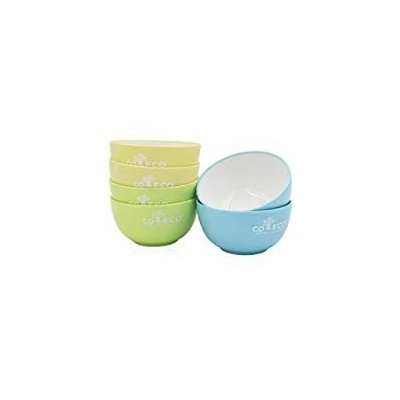 """GNGS PLA Plant-made Two-tone Bowl - 6.10"""" Diameter x 2.16"""" Height - Stackable Round - BPA Free, Non..."""