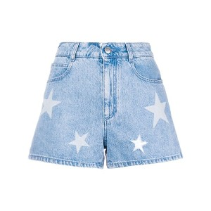 Stella McCartney denim Star shorts - ブルー