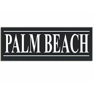 "Palm Beach Hometown Love City木製手塗り16 "" x 5.5 "" X 5 "" Wall Sign"