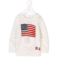 Ralph Lauren Kids flag motif jumper - ホワイト