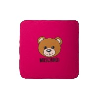 Moschino Kids Teddy Toy print blanket - ピンク