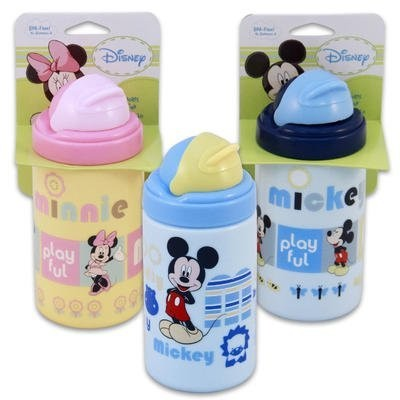 Mickey & Minnie 14オンスジャンボSipper Cup with Straw (ブルー)