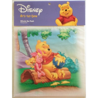 "(WINNIE THE POOH ""Honeysmack"") - Disney Art-to-Sew 20cm Cotton Fabric Print Square for Crafts &..."