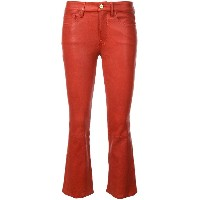 FRAME cropped coated jeans - レッド